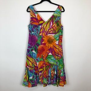 Ralp Lauren Colorful Floral Fields Dress Size 12